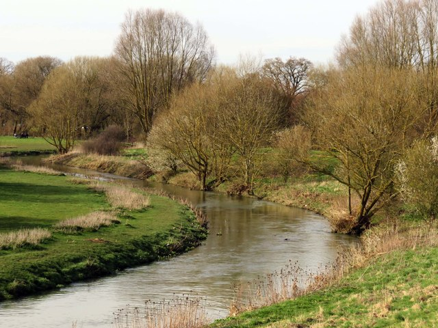 The River Ouzel in Milton Keynes