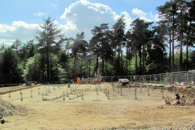 The Site of the New Cafe at Wendover Woods