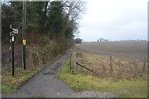 TR2354 : Footpath to Adisham Station by N Chadwick