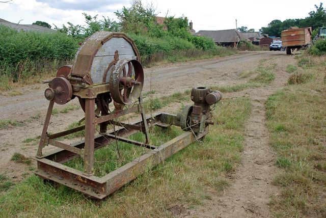 Old chaff cutter, Bushbury Farm