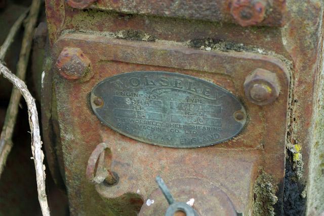 Wolseley engine works plate