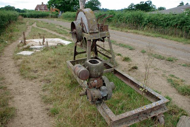 Old chaff cutter, Bushbury Farm