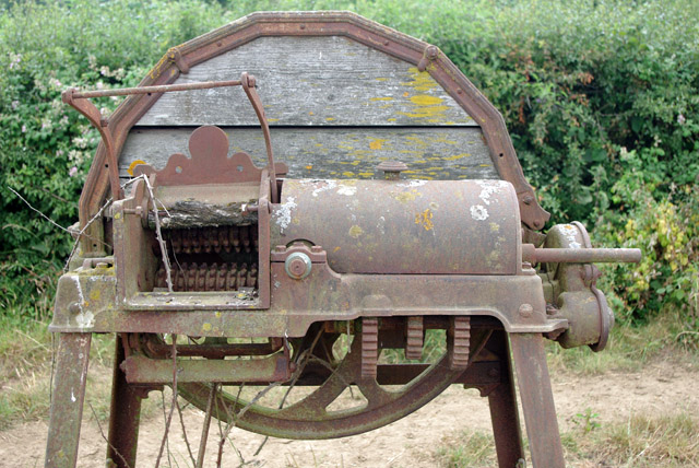 Old chaff cutter, input side, Bushbury Farm