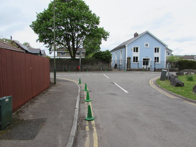 Green cones at the edge of Bont Close and Commercial Street, Pengam by Jaggery