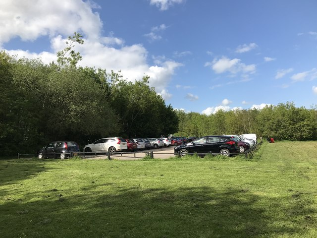 Car park at the north end of Lyme Valley Park