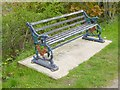 SD3077 : Bench beside the Ulverston Canal by Oliver Dixon