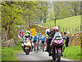 SD9772 : Tour de Yorkshire - motorcycle escort by Stephen Craven