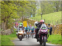 SD9772 : Tour de Yorkshire - motorcycle escort by Stephen Craven