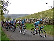 SD9772 : Tour de Yorkshire - the peloton by Stephen Craven