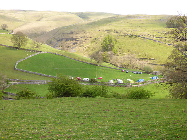 Camp site above Kettlewell