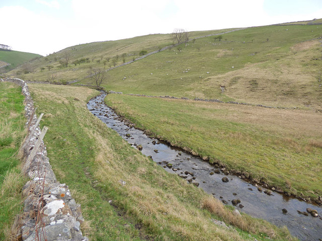 Kettlewell Beck, looking upstream