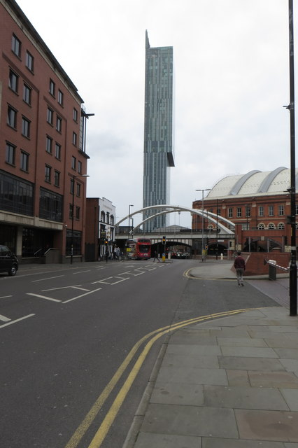 Great Bridgewater Street with Beetham Tower beyond