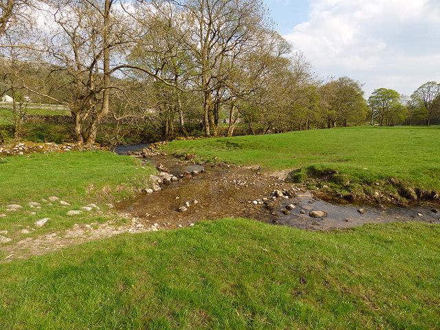 Footpath fording a small stream