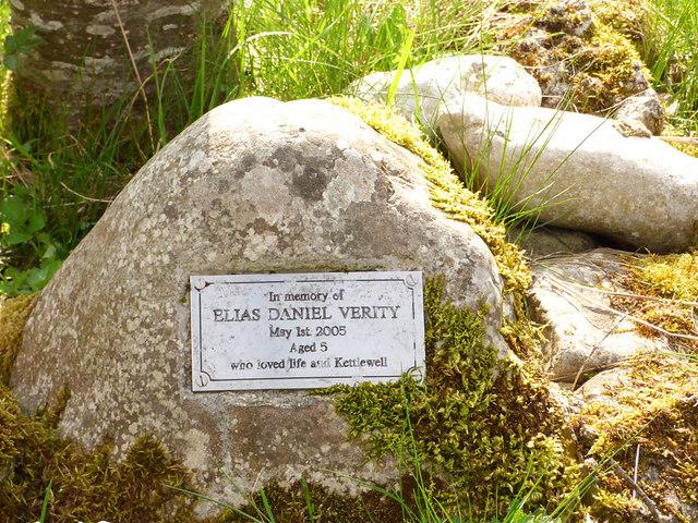 Plaque in memory of Elias Verity