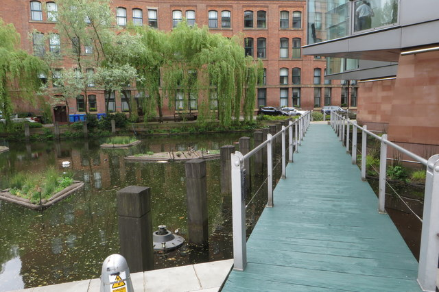 Walkway over the backwater by the Bridgewater Hall