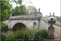 TQ2077 : View of a bridge over the pond in Chiswick House and Gardens by Robert Lamb