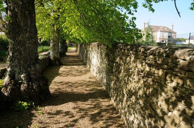 Path leading to Preston church