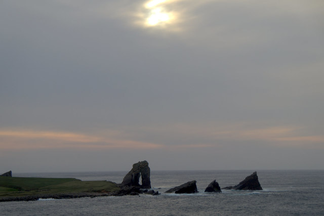 Gaada Stack from Stremness, Foula