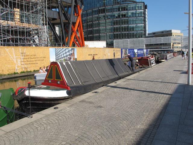 Roger, narrowboat in Paddington basin