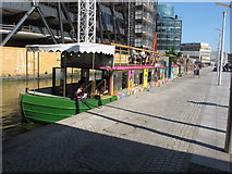 TQ2681 : May Green and Darcie Green, trading boats, Paddington Basin by David Hawgood