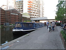 TQ2681 : Prince Regent, tour narrowboat in Paddington Basin by David Hawgood
