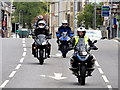 H4572 : Bikers coming into town, Omagh by Kenneth  Allen