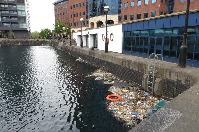 Floating detritus (mostly plastic) in the Eirie basin