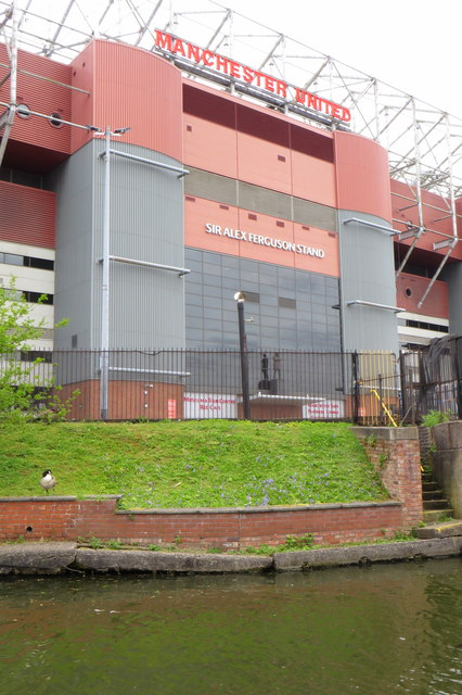 Sir Alex Ferguson Stand from the Bridgewater canal