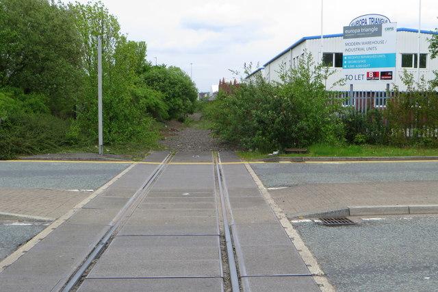 Extinct railway at Trafford Park