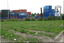 SJ7996 : Trafford Park world freight centre by Philip Jeffrey