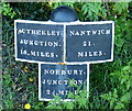 SJ7725 : Shropshire Union Canal milepost at Old Lea by Mat Fascione