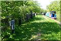 SJ7526 : Shropshire Union Canal milepost near Shebdon Wharf by Mat Fascione