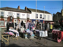 SJ9494 : Clothes stall by Hyde Market by Gerald England