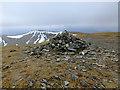 NN4949 : Summit cairn on Meall Buidhe by John Allan
