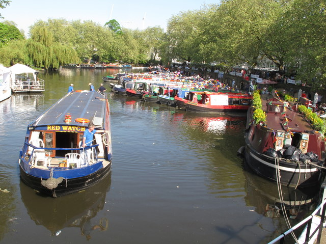 Red Watch, narrowboat, Little Venice Canalway Cavalcade