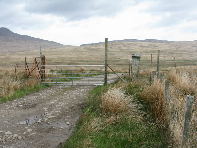 Gate on the track to Ardmenish