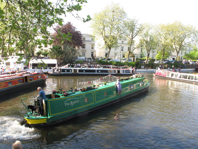 Narrowboat traffic jam,  Little Venice Canalway Cavalcade