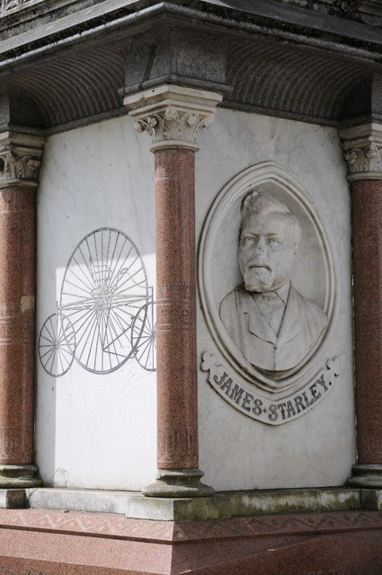 Detail of the James Starley memorial