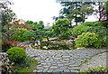 TQ3499 : Japanese garden, Capel Manor College by Jim Osley