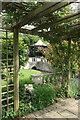 TQ3499 : Pergola, Capel Manor College by Jim Osley