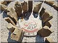 SE0863 : Maze at Stump Cross Caverns  -centre mosaic by Stephen Craven