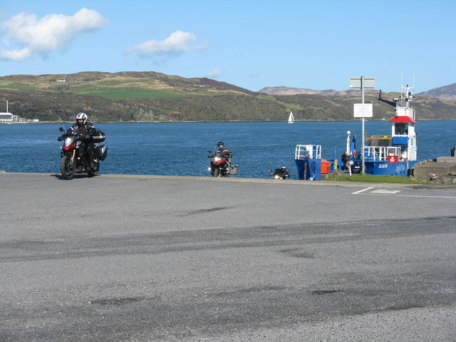 Leaving the ferry at Feolin