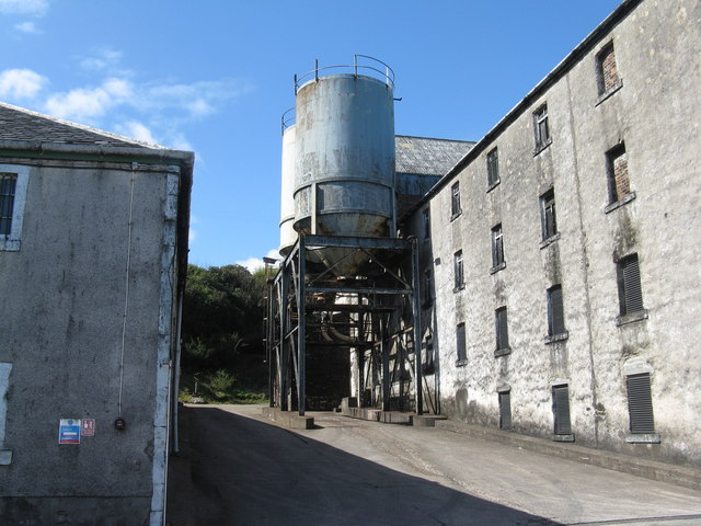 Silos at Bunnahabhain distillery