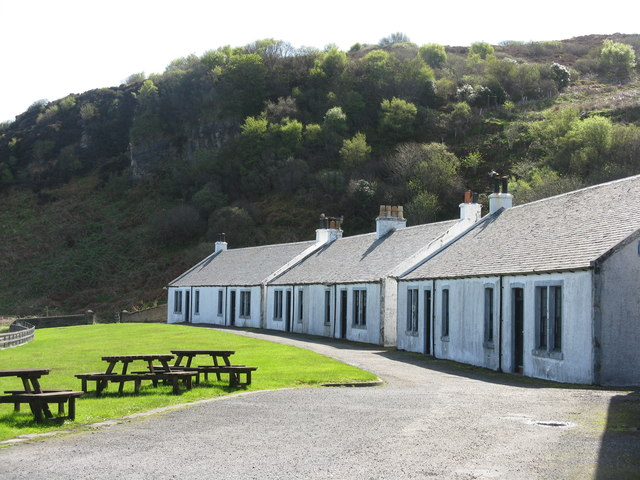 Distillery cottages at Bunnahabhain
