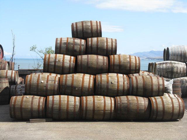 Barrels at Bunnahabhain