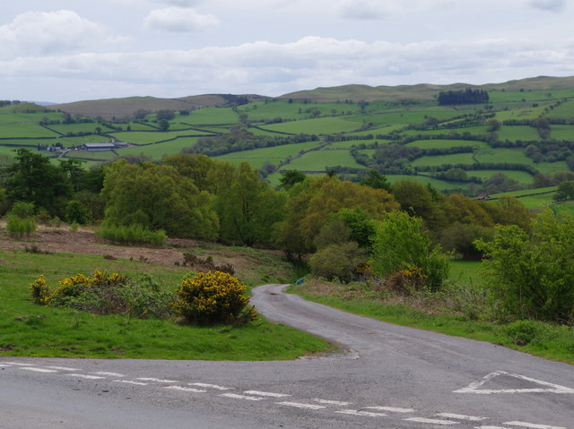 Top of the lane down to Gwenddwr