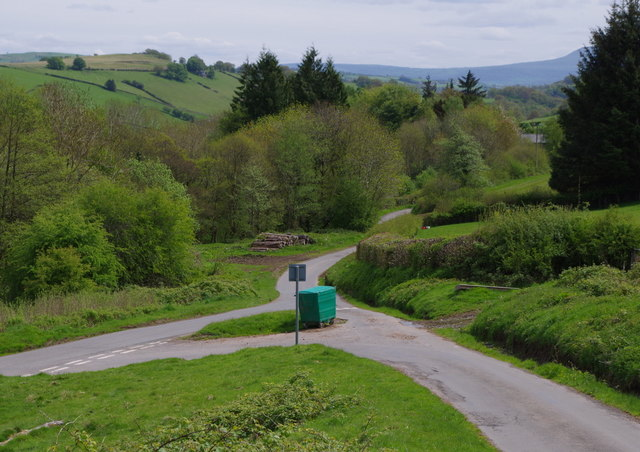 Gwenddwr valley scene from near the foot of a steep lane