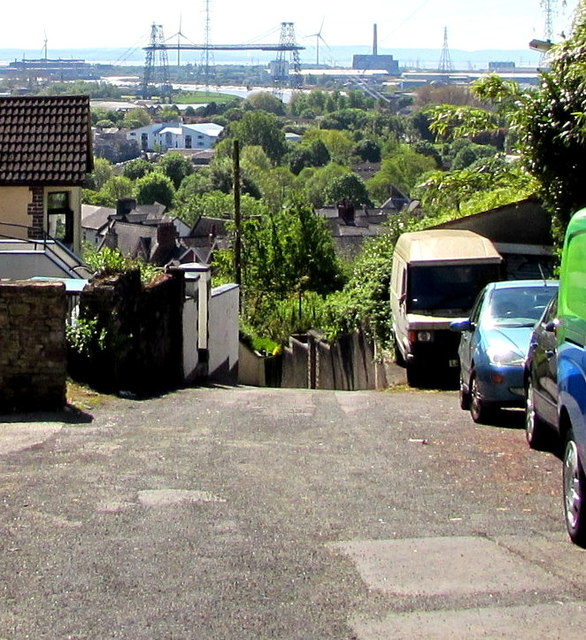 View from the top of Vicarage Hill, Newport by Jaggery