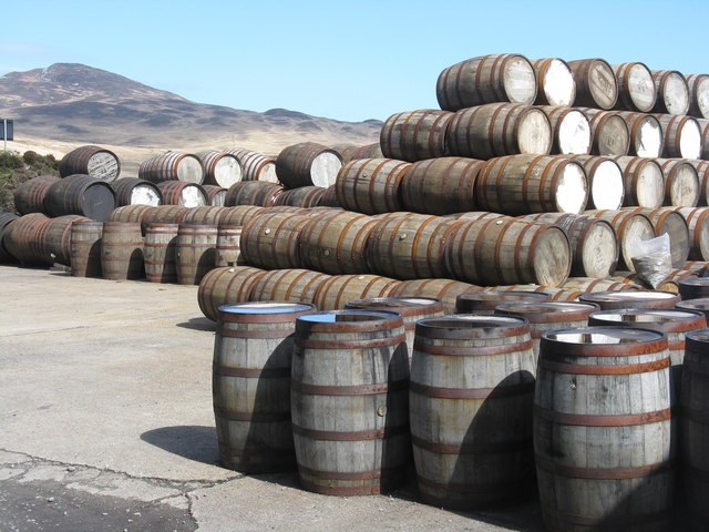 Barrel storage yard