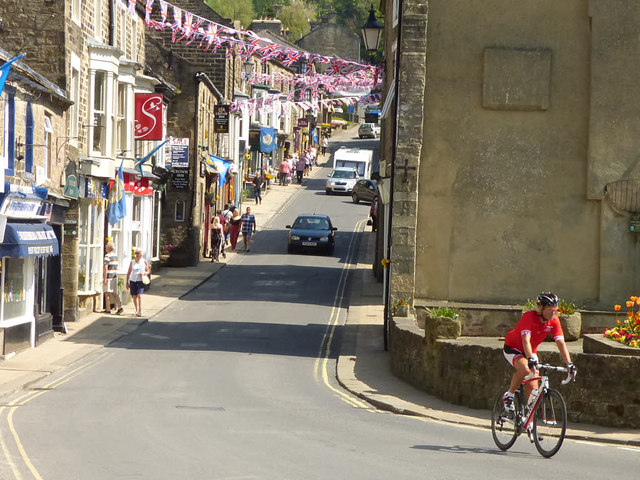 Pateley Bridge after the Tour de Yorkshire